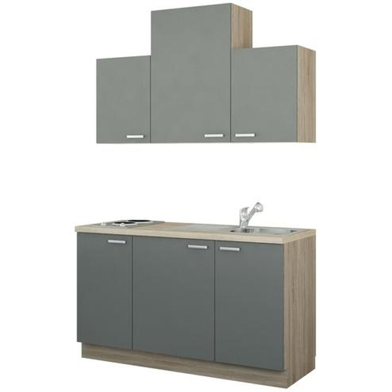 Küchenzeile mit Elektrogeräten  Aue ¦ holzfarben ¦ Maße (cm): B: 150