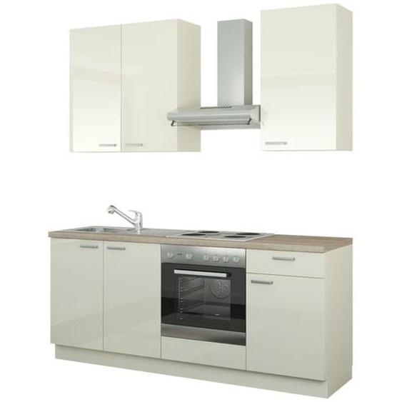Küchenzeile mit Elektrogeräten  Bochum ¦ creme ¦ Maße (cm): B: 200