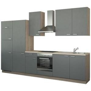 Küchenzeile mit Elektrogeräten  Duisburg ¦ grau ¦ Maße (cm): B: 340