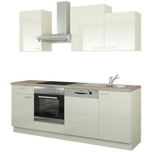 Küchenzeile mit Elektrogeräten  Erfurt ¦ creme ¦ Maße (cm): B: 220