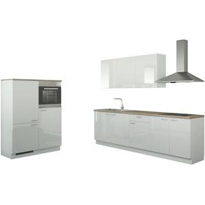 Küchenzeile mit Elektrogeräten   Gotha ¦ weiß ¦ Maße (cm): B: 390