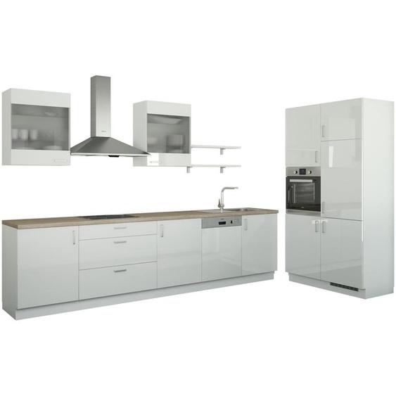 Küchenzeile ohne Elektrogeräte  Frankfurt ¦ weiß