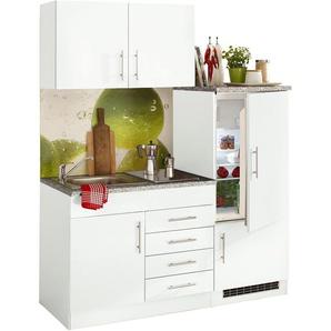 Single-Küche , weiß, ohne Aufbauservice, »Toledo«, Hochglanz-Fronten, Held Möbel