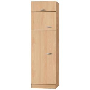 Kühlschrankumbau, 3-türig   Klassik 60 | holzfarben | 60 cm | 207 cm | 60 cm |