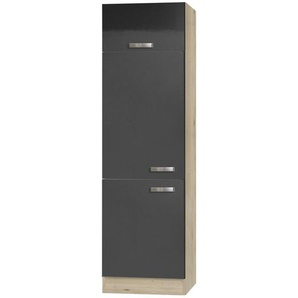 Kühlschrankumbau  Udine | holzfarben | 60 cm | 206,8 cm | 58 cm |