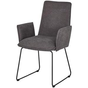 Kufenstuhl  Helge ¦ grau ¦ Maße (cm): B: 60 H: 93 T: 63 Stühle  Esszimmerstühle  Esszimmerstühle mit Armlehnen » Höffner