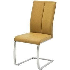 Freischwinger,  Caneva ¦ gelb Stühle  Esszimmerstühle  Esszimmerstühle ohne Armlehnen » Höffner