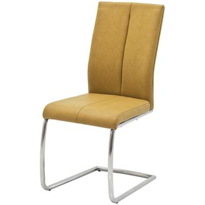 Freischwinger,  Caneva ¦ gelb ¦ Maße (cm): B: 44 H: 100 T: 63 Stühle  Esszimmerstühle  Esszimmerstühle ohne Armlehnen » Höffner