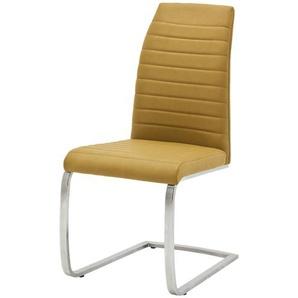 Freischwinger,  Caneva ¦ gelb ¦ Maße (cm): B: 44 H: 100 T: 64 Stühle  Esszimmerstühle  Esszimmerstühle ohne Armlehnen » Höffner