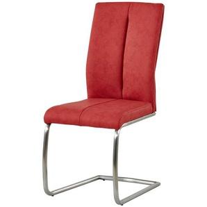 Freischwinger,  Caneva ¦ rot ¦ Maße (cm): B: 44 H: 100 T: 63 Stühle  Esszimmerstühle  Esszimmerstühle ohne Armlehnen » Höffner