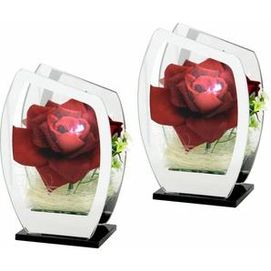 Rose im Glas mit LED-Licht