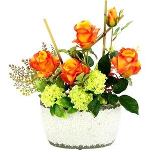 Kunstpflanzen Arrangement »Rosen/Schneeball«