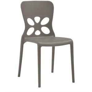 Kunststoff Stuhl in Grau stapelbar