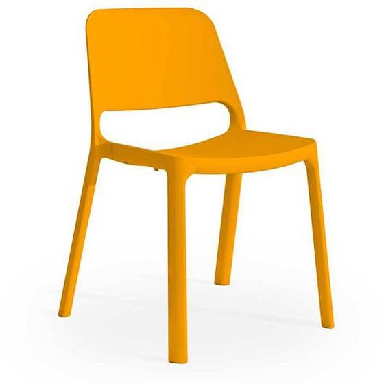 Kunststoff Stuhl in Orange outdoor geeignet