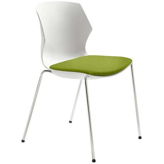 Kunststoff Stuhl in Weiß und Grün Made in Germany