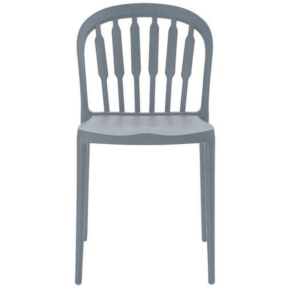 Kunststoffstühle in Grau 45 cm Sitzhöhe (Set)