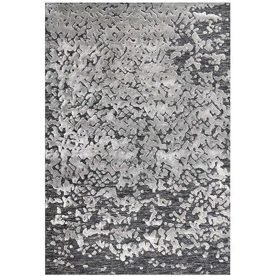 Kurzflor Teppich in Grau und Beige 2 cm hoch