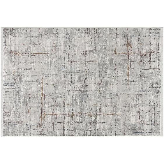 Kurzflorteppich - grau - Synthethische Fasern   Möbel Kraft