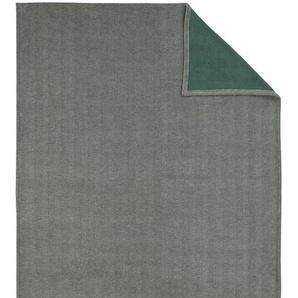 Kuscheldecke Switch, grau-aqua, 150x200 cm