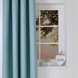 Kutti Vorhang Dimout, Dimout 225 cm, Ösen, 140 cm blau Gardinen Vorhänge