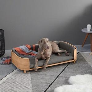 Kyali Large Dog Sofa, Natural ash and Grey, M/L