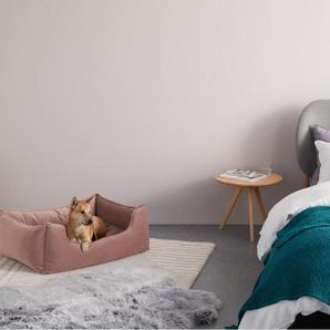 Kysler extragrosses Haustierbett, Samt in Rosa