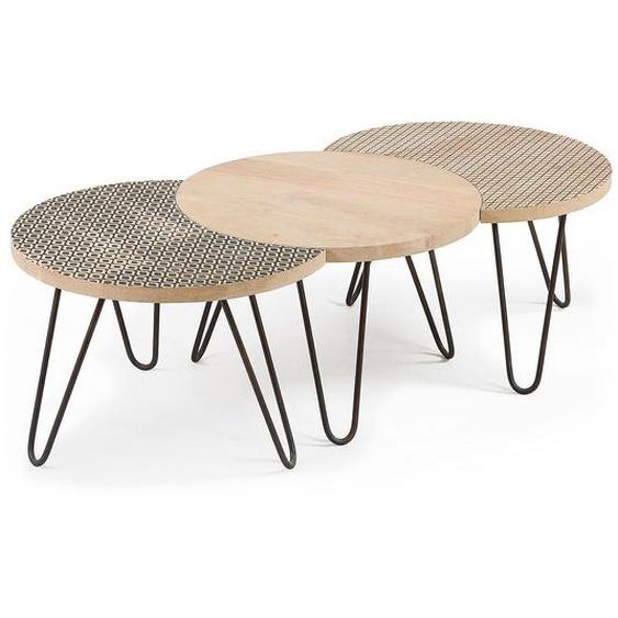 La Forma Beistelltisch, Mango, Holz