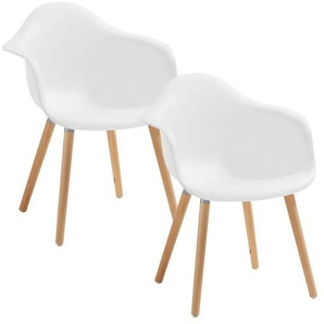 La Forma Kenna Armlehnstuhl 62x61x81cm 2er-Set Weiß Pure White