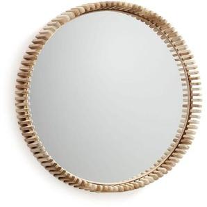 La Forma Porter Runder Spiegel 85x13x85cm Teakholz Teak
