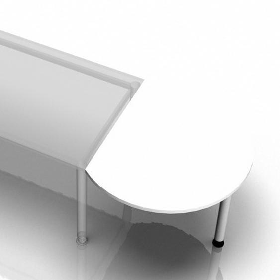 LA80 - Ansatztisch 80x100 Weiß