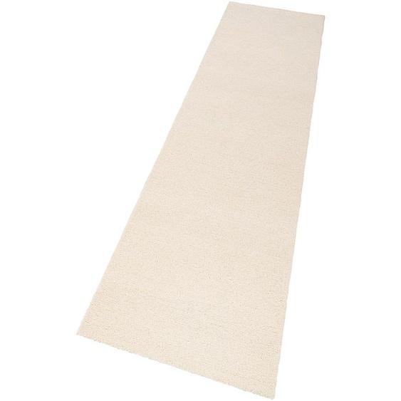 Läufer, Janne, Theko Exklusiv, rechteckig, Höhe 14 mm, handgetuftet 13, 90x250 cm, mm beige Teppichläufer Läufer Bettumrandungen Teppiche
