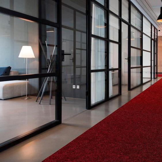 Läufer, PICOLLO, Primaflor-Ideen in Textil, rechteckig, Höhe 8 mm, maschinell gewebt 100x350 cm, mm rot Teppichläufer Läufer Bettumrandungen Teppiche