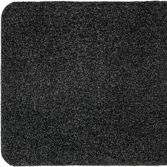 Läufer, Saugstark 601, ASTRA, rechteckig, Höhe 9 mm, maschinell getuftet 19, 75x130 cm, mm schwarz Teppichläufer Läufer Bettumrandungen Teppiche