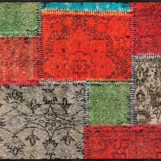 Läufer »Vintage Patches«, wash+dry by Kleen-Tex, rechteckig, Höhe 7 mm