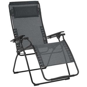 Lafuma Futura Relaxliege Stahl/Batyline® Duo Schwarz/Obsidian