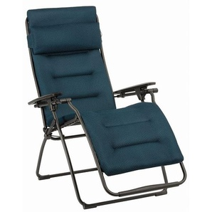 Lafuma Futura Relaxliege XL Stahl/Be Comfort® Basalte/Bleu Encre