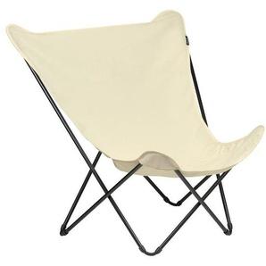 Lafuma Pop Up XL Design-Sessel Stahl/Airlon® Schwarz/Ecru