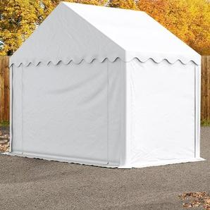 Lagerzelt 3x2 m, PVC 500 g/m², weiß