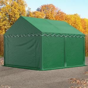 Lagerzelt 3x4 m, PVC 500 g/m² dunkelgrün