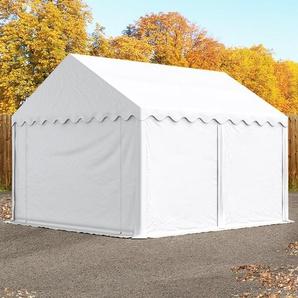 Lagerzelt 3x4 m, PVC 500 g/m², mit Bodenrahmen weiß