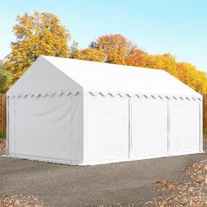 Lagerzelt 3x6 m, PVC 500 g/m², mit Bodenrahmen weiß