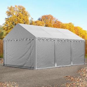 Lagerzelt 3x6 m, PVC 550 g/m², mit Bodenrahmen grau