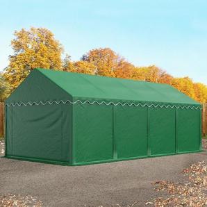 Lagerzelt 4x8 m, PVC 500 g/m² dunkelgrün