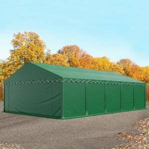 Lagerzelt 5x10 m, PVC dunkelgrün