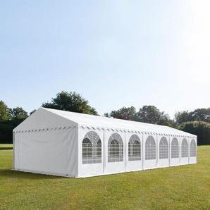 Lagerzelt 5x10 m, PVC 500 g/m², mit Bodenrahmen grau