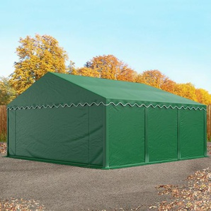 Lagerzelt 5x6 m, PVC 500 g/m², mit Bodenrahmen dunkelgrün