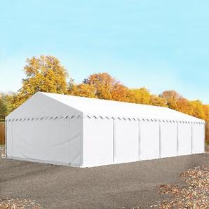 Lagerzelt 6x12 m, PVC 500 g/m², weiß