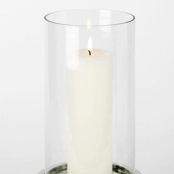 Lambert Windlicht Makani H: 45,5 cm silberfarben Kerzenhalter Kerzen Laternen Wohnaccessoires