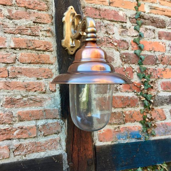 Lampe Kupfer Messing Wandlampe Landhaus Außenleuchte Aussenwand Lampe Haustür