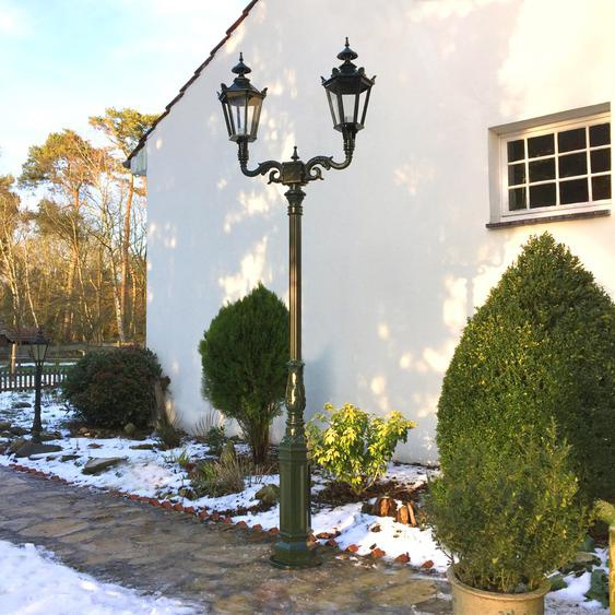 Lampe wie antik Garten Beleuchtung Plattenweg Landhaus Aussenleuchte - H.283 cm